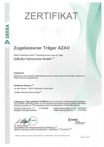 Zertifikat AZAV